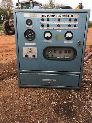 fire pump diesel generator control panel power plant cabinet stationary engine
