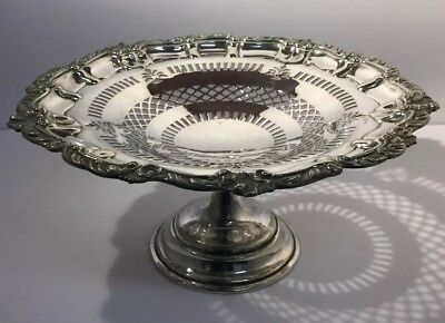 Large Antique MAPPIN & WEBB SILVER PLATED PEDESTAL Bowl / Table Centrepiece