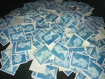500 2nd Class Unfranked Stamps Off Paper No Gum Security Cheapest Free Post!