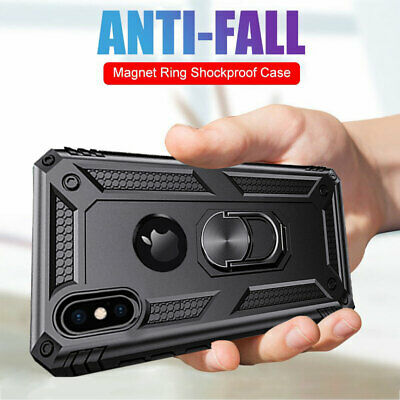 Magnetic Stand Military Hybird Armor Case for iPhone XS Max/ XR X 7 8 Plus Cover