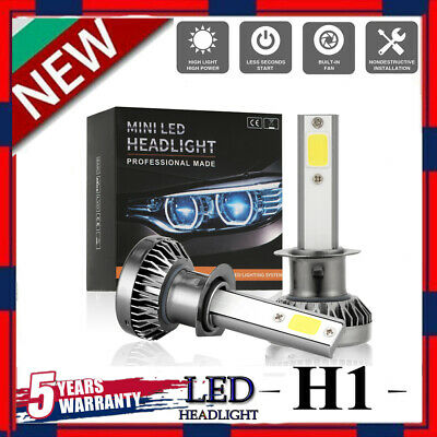 MINI H1 LED Headlight Bulbs Conversion Kit 200W 48000LM 6000K Hi/Lo Beam Lamps