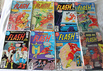 Job Lot of 8 Early 80's Flash 302-307,309,350 (Last pre Crisis Barry Allen)