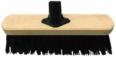 "13"" Stiff Black PVC Broom Head Sweeping Brush Yard Garden Outdoor"