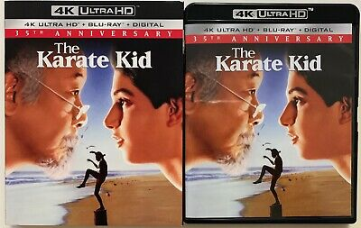 The Karate Kid 4K Ultra Hd Blu Ray 2 Disc Set + Slipcover Sleeve 35Th Anniversar