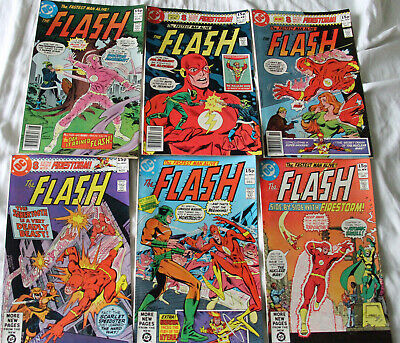 Job Lot of 6 Early 80's Flash 288-293 Firestorm Co Feature