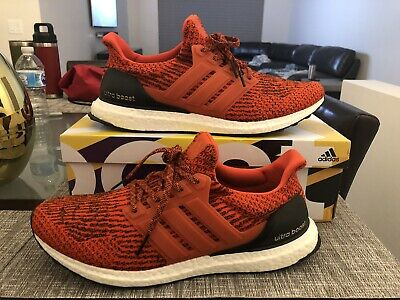 f6314ad8419 Men s ADIDAS Ultra Boost UltraBoost 3.0 S80635 Energy Red Core Black White  Sz 12