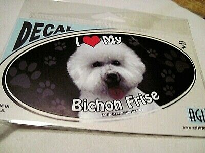 I Love My Bichon Frise Vinyl Sticker/Decal