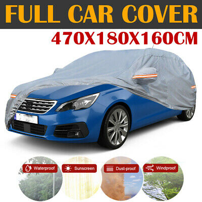 Heavy Duty Full Car Cover Cotton Waterproof Dust Resistant For Peugeot 308 407