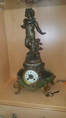 Antique french mantle clocks. rococo looking