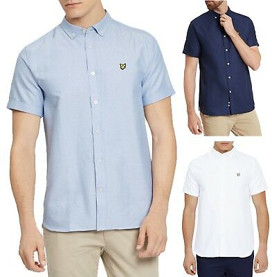 Lyle & scott Uomo Cotone Camicia Oxford Regular Manica Corta Colletto