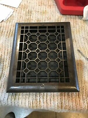 J6 Antique Honeycomb Cast-Iron Heating Grate Face 9.75 X 11.75