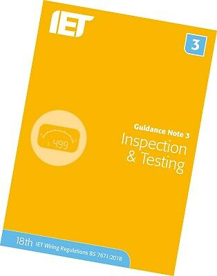 IET Guidance Note 3: Inspection and Testing | 18th Edition 9781785614521
