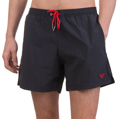 9faac35503 EMPORIO ARMANI SWIMWEAR Swim Shorts Size 50 / L Embroidered Logo Mesh Lined