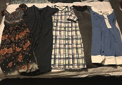 Ladies Womens Summer Dress Bundle 5 Items Size 8 Boohoo H+M New Ex Condition