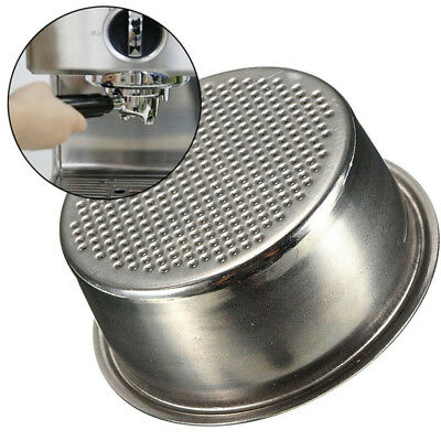Coffee Filter Basket Silver Stainless Steel Machine Espresso Maker 2 Cup 51mm