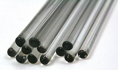 5 x GLASS STIRRING ROD, ø8 x 100mm borosilicate **Quality** BOROSILICATE