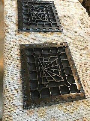 J 18  2 Av Price each Antique Deco wall mount heating grate 13 5/8 x 15.75