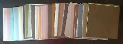 Lot of 100 Bazzill Textured Cardstock 12 Inch X 12 Inch STONEWASH T7-744 309031
