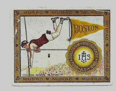 1910 Murad College Sports card PRE-WW1 Boston College Track Pole Vault Alumni