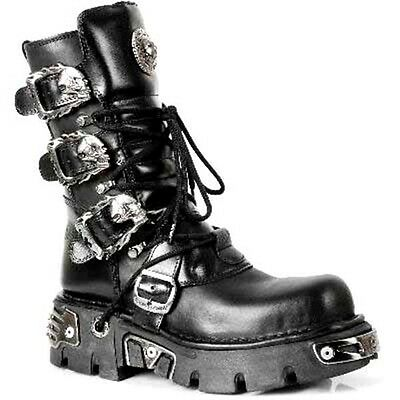Details zu MR022 New Rock Engineer Boots Stiefel Gothic Streetfighter Reissverschluss Leder