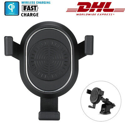 Induktive Ladestation Qi Wireless Charger Fast Induktion Ladegerät Kabellos DHL