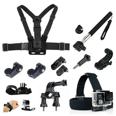 Monopod Bike Bicycle Handlebar Head Chest Strap Bundle for Sport Action Camera