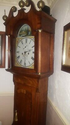 Super golden  grandfather clock c1830 8day