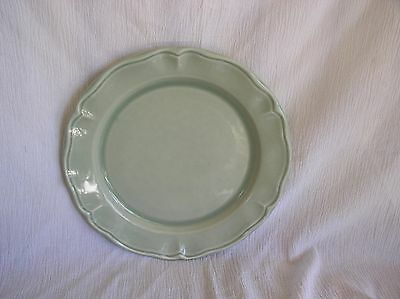 Varages Luberon French Pale Sage Green Scroll Dinner Plate Dish Retired