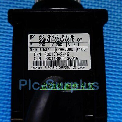 1PC Used Yaskawa AC Servo Motor SGMAH-02AAA61D-OY Tested In Good Condition