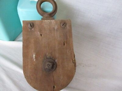 Antique Wood STARLINE Barn Pulley *  Tool  Industrial Hardware NAUTICAL block