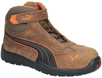 PUMA Indy Mid S3 brown composite toe safety work boot with midsole
