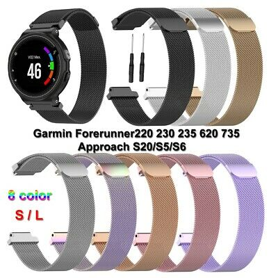 Pulsera Correa Loop De acero inoxidable For Garmin Forerunner 220 Approach S20