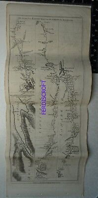 1776 Taylor & Skinner Strip Map, Road from Edinburgh to Glasgow, Fort William