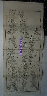1776 Taylor & Skinner Strip Map, Edinburgh to Berwick upon Tweed and Cornhill