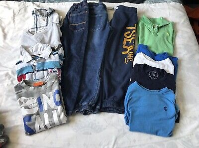 7/9 YEARS BOYS LARGE 19 Items CLOTHES BUNDLE NEXT H&M INDIGO TU LEGO