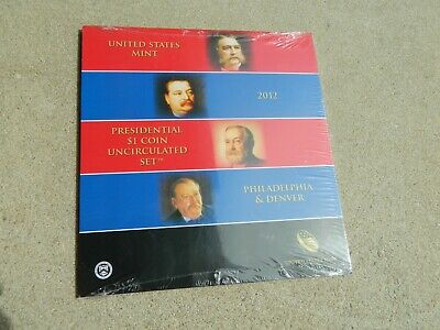 2012 United States Mint Presidential $1 Coin Uncirculated Set P&d