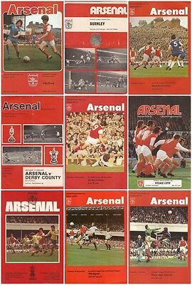 10 x 1970's ARSENAL HOME PROGRAMMES - Select from list - FREE POSTAGE