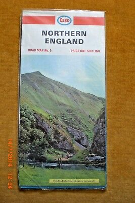 VINTAGE ESSO ROAD MAP No 5 NORTHERN ENGLAND :1967 (Revised) NEW SEALED IN BAG