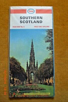 VINTAGE ESSO ROAD MAP No 6 SOUTHERN SCOTLAND :1967 (Revised) NEW SEALED IN BAG
