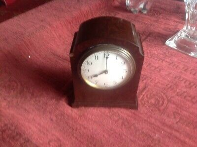 Vintage Bakelite Mantle Clock Fully Working Wind Up