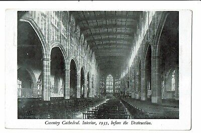CPA -Carte postale-Royaume Uni - Coventry- Cathedral interior before Destuction