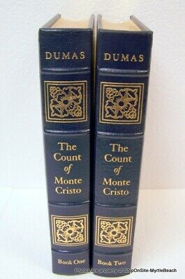 The Count of Monte Cristo Book I-II By Alexandre Dumas Easton Press **Free S&H**