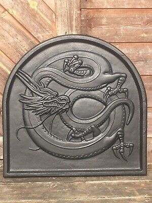Chinese Dragon Cast Iron Backplate Fire Back For Fire Grate Basket