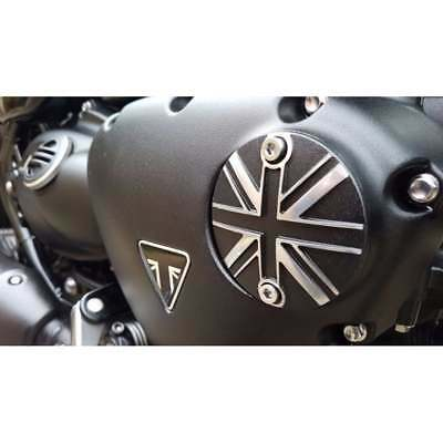 Motone Triumph Bonneville Points ACG Cover Union Jack Black/Polish Contrast