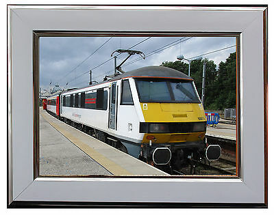 "Class 90014 Electric Locomotive  7"" X 5"" Framed Photograph (Wsf07P)"