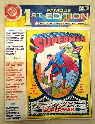 DC Comics: Superman - Famous 1st Edition, Golden Mint Series