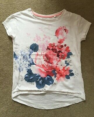 Next Girls Floral T Shirt Top - Age 4 Years (3-4) - VGC