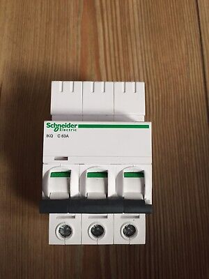 Schneider Electric IKQ 63 Amp Type C Mcb  Circuit Breaker 3 Phase Pole