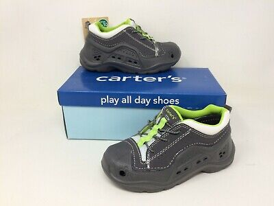 Carters Toddler Boy/'s Runner Slip On Bungee Shoes Brown//Green #520 R23 tz NEW