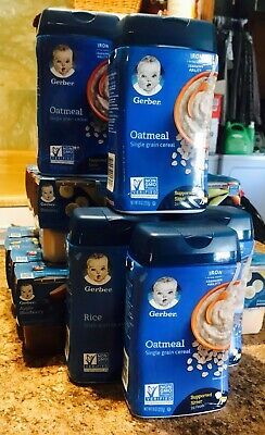 50 Containers Gerber 2nd Foods and 7 Gerber Baby Cereal SEALED